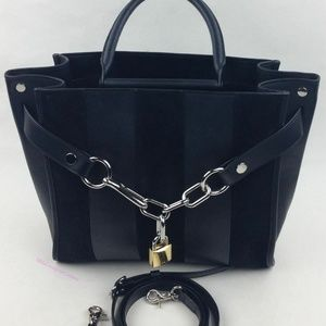 Alexander Wang Large Attica Striped Chain Satchel